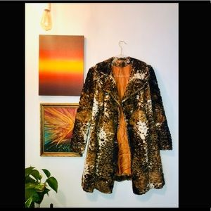 Vintage calico coat